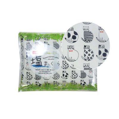 日本製涼感鹽枕頭-貓咪排排站-白底 (20×30cm)