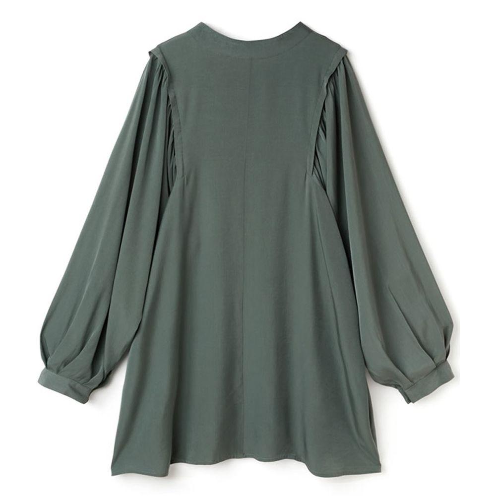 日本 GRL - 2way蝴蝶結短版長袖洋裝-綠