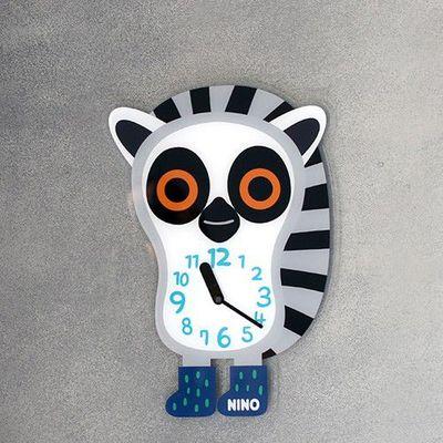韓國NINO HapPy TimE童趣時鐘-環尾小狐猴 (24*36cm)