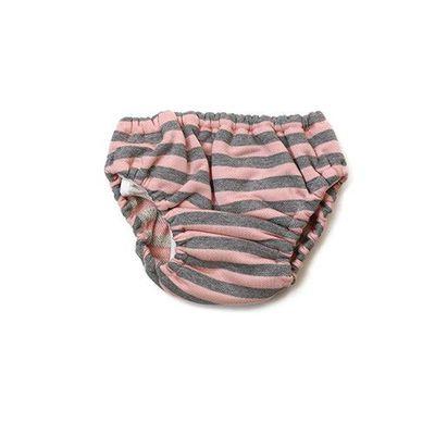 Think・B 日本製超透氣學習褲-粉灰條紋-粉色
