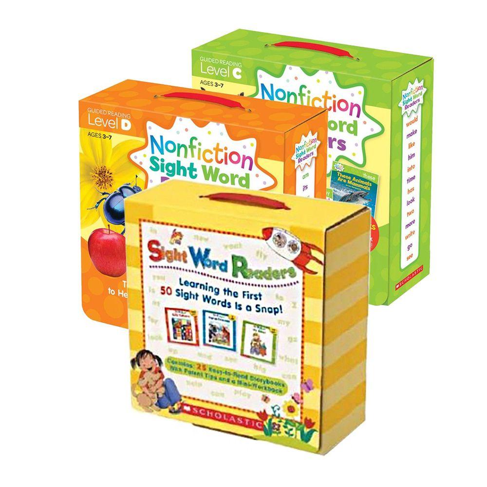 Scholastic - 【超值合購】Nonfiction Sight Word Readers Level C+D+Sight Word Readers Boxed Set-三盒