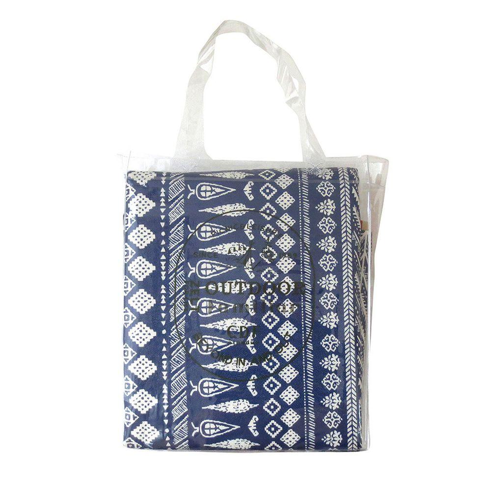 日本Bisque - 可水洗野餐雙面軟墊-180x140cm(5-6人)-民族藍