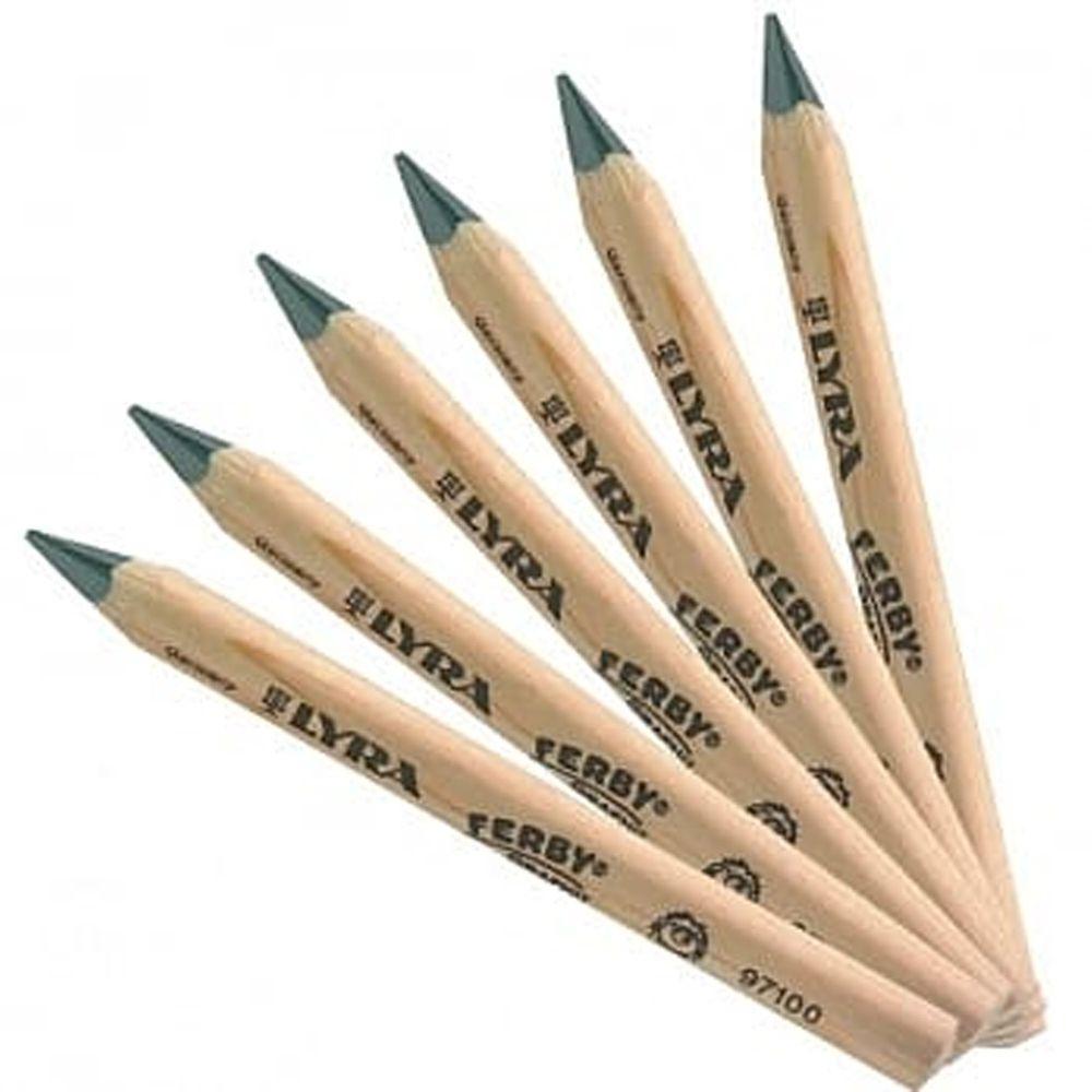 德國LYRA - 兒童三角原木鉛筆(12cm) 12入-3歲以上