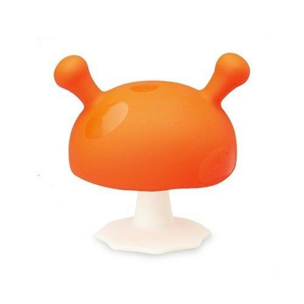 英國 mombella - Q比蘑菇固齒器-橘色