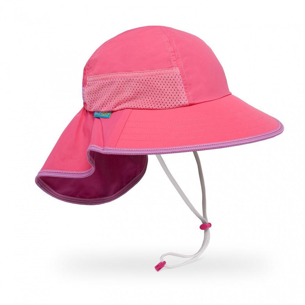 Sunday Afternoons - 兒童防曬帽-兒童抗UV防潑透氣護頸帽Kids Play Hat-熱情粉 Hot Pink