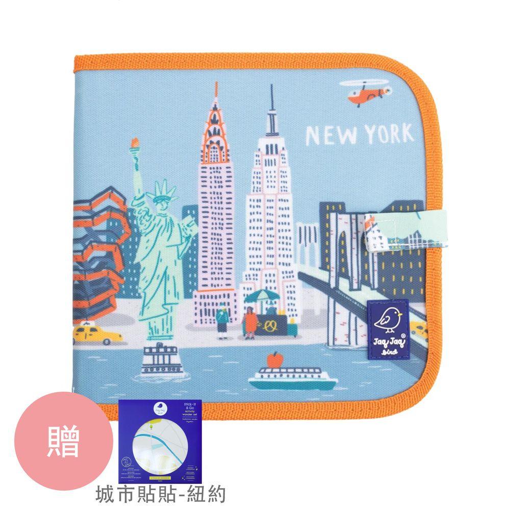 美國Jaq Jaq Bird - 攜帶型粉筆畫冊-城市系列-紐約-贈 城市貼貼-紐約