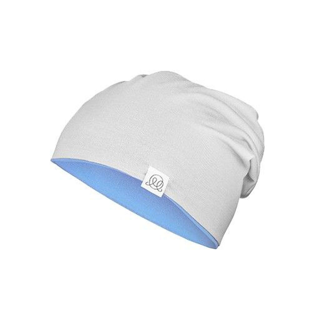 maylily - 兒童竹棉雙色帽-藍/灰-2-6y