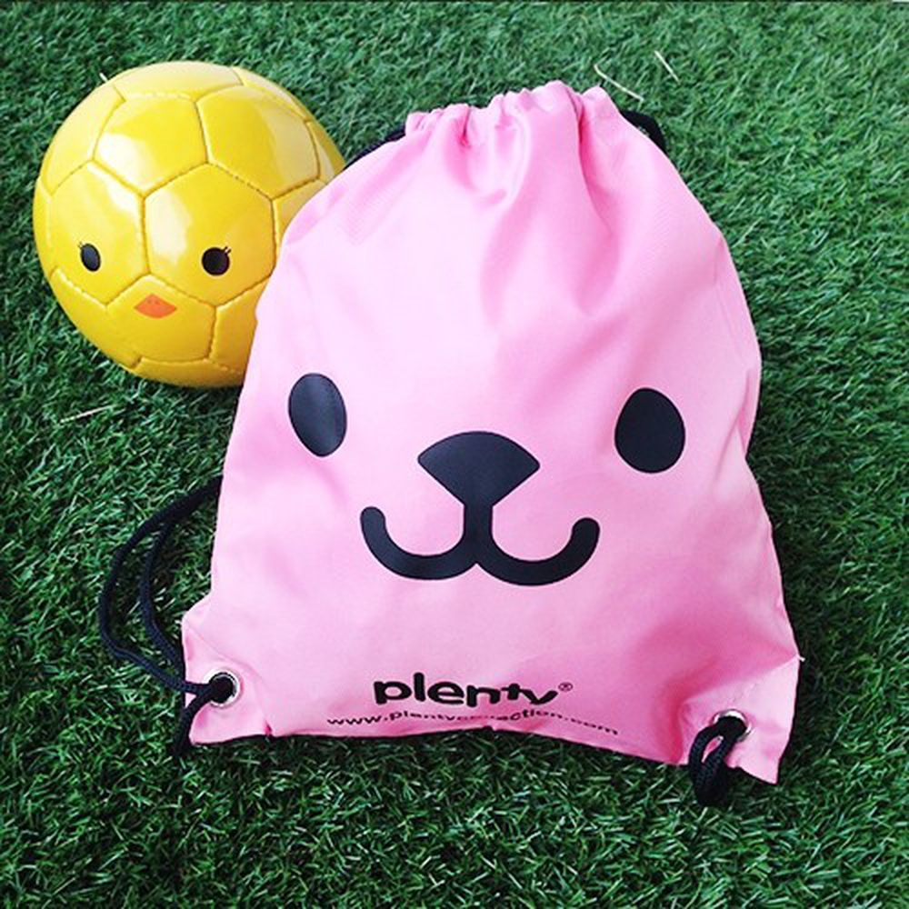 Plenty - 熊寶寶後背束口袋-桃紅