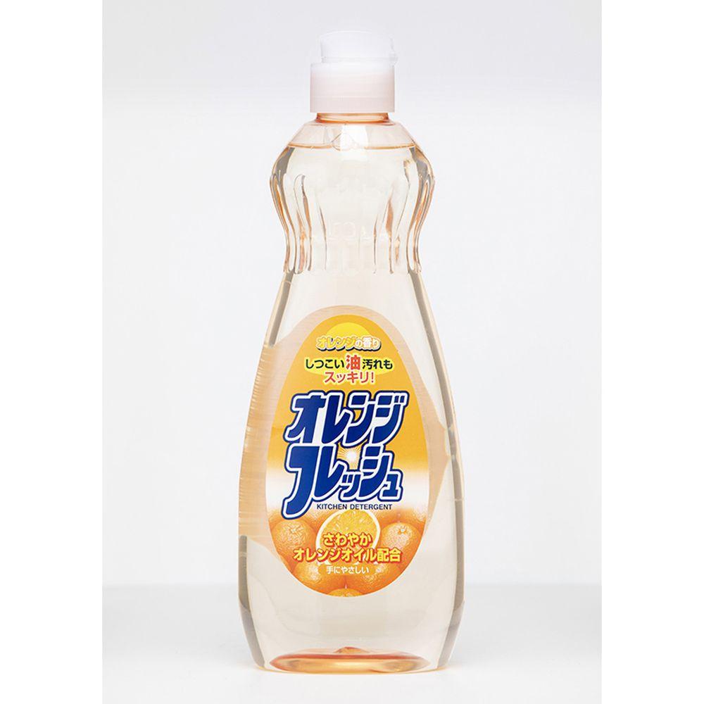 日本 火箭 - 石鹼蔬果碗盤洗潔精-柑橘-600ml