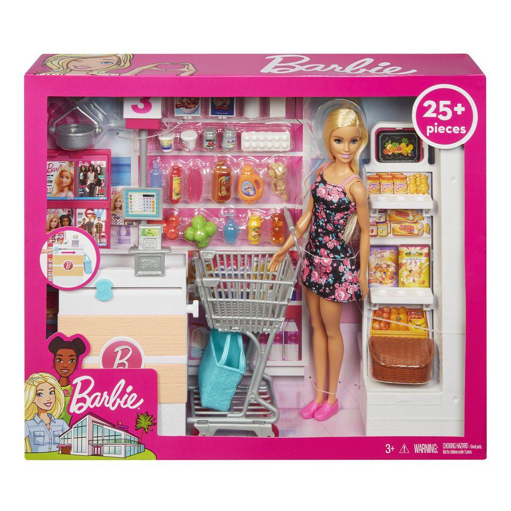 Barbie 芭比 - 芭比超級市場組合連娃娃