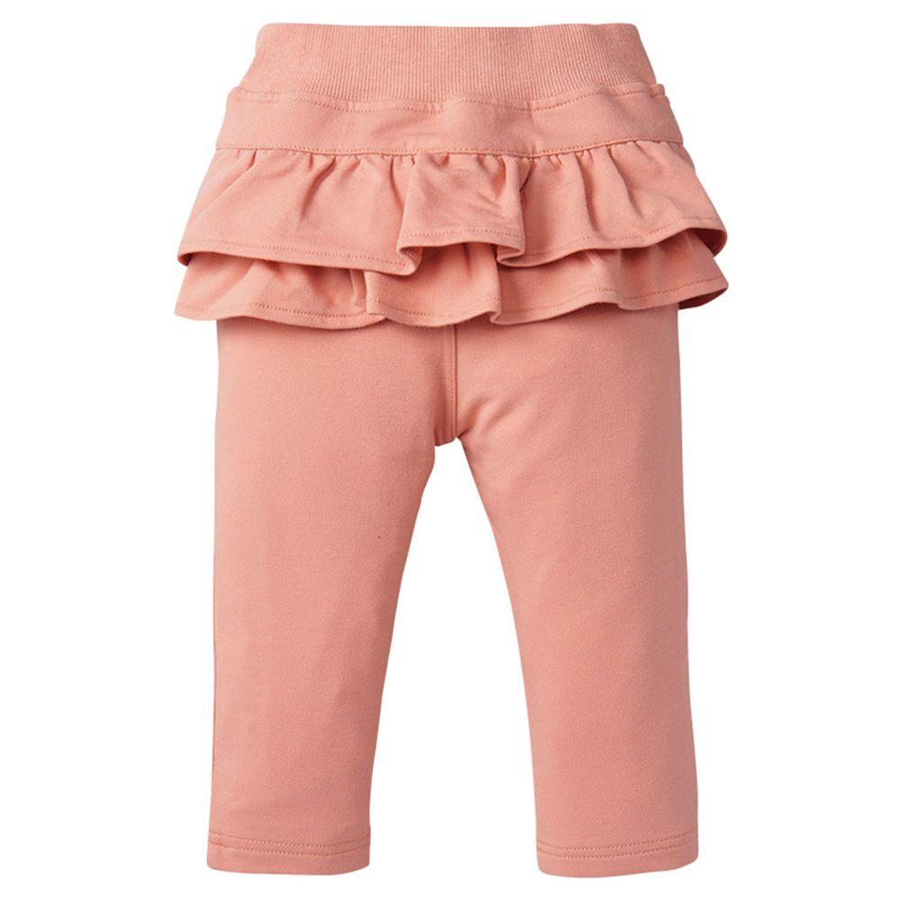 akachan honpo - 荷葉邊長褲-粉紅色