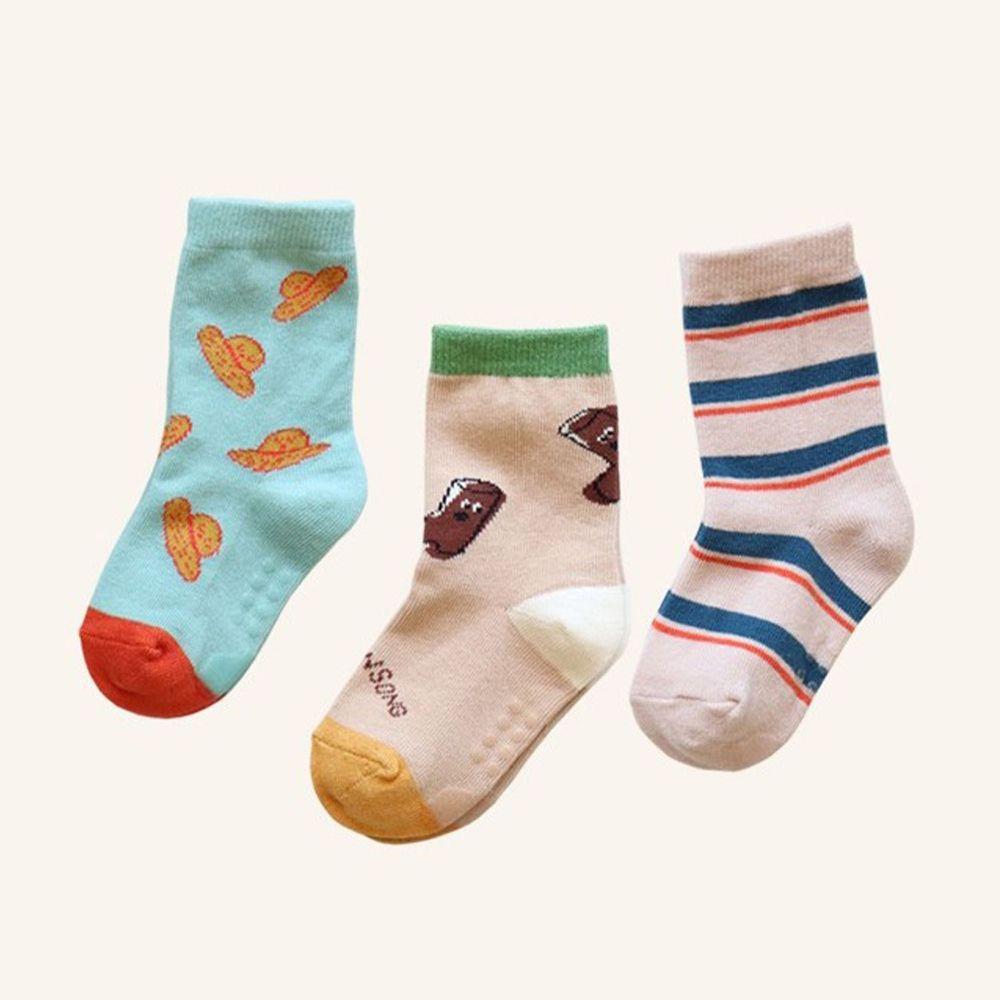韓國 Kokacharm - 韓國製踝襪-三件組-Go! Gardening