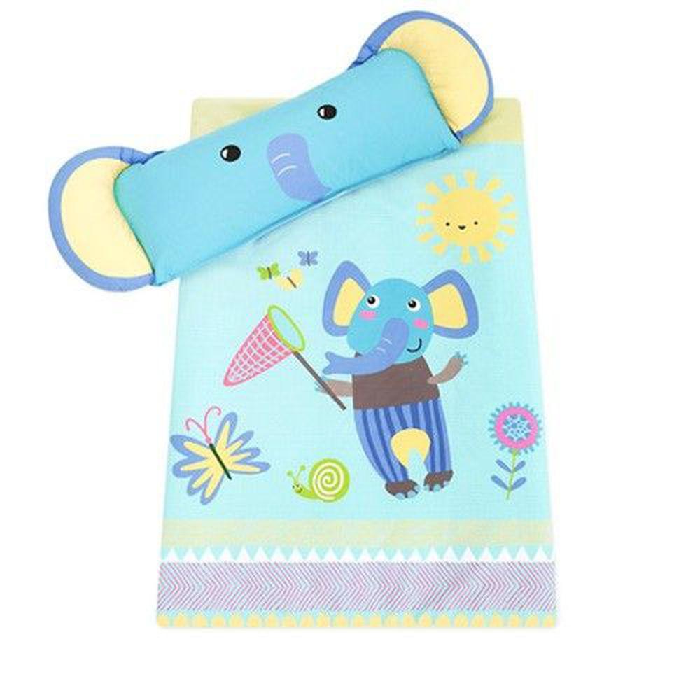 韓國 Bonitabebe - 可愛動物造型睡袋-藍色象寶寶-附防塵保管袋