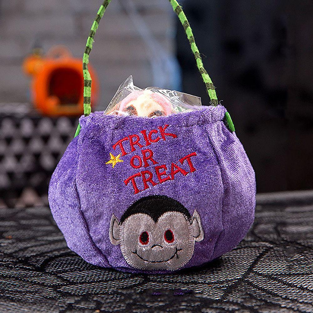 萬聖搗蛋糖果袋-吸血鬼-紫色 (26x11cm)