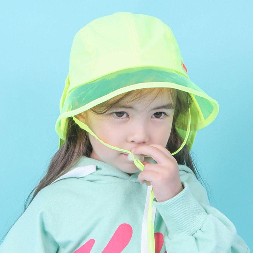 韓國 Babyblee - 抗UV遮陽板遮脖防曬帽-螢光黃 (頭圍:L(50-54cm))