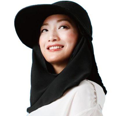 3way 大帽沿遮陽帽-黑 (頭圍57.5cm內)