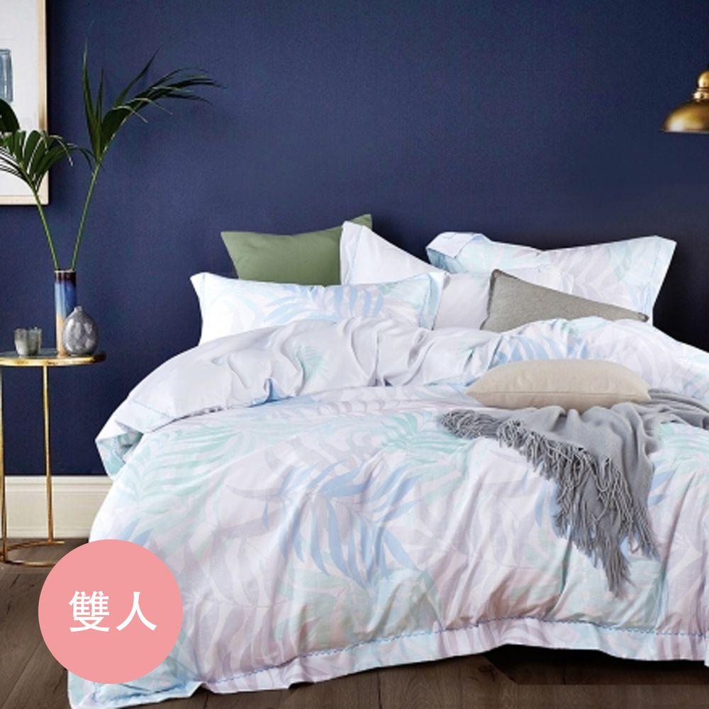 PureOne - 吸濕排汗天絲-擁抱自然-雙人床包枕套組(含床包*1+枕套*2)