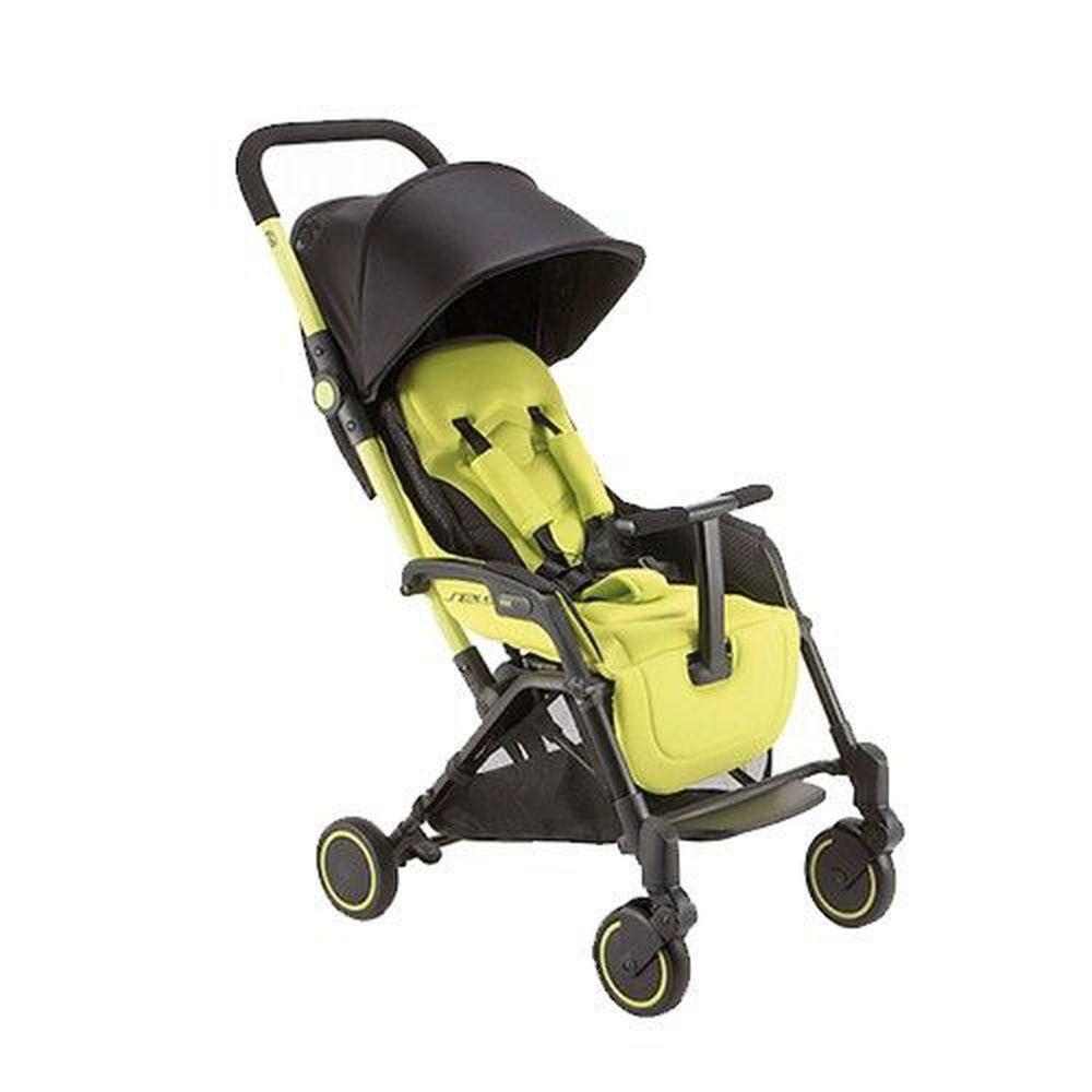 義大利 Pali - SEI.9 秒收可折疊站立嬰幼兒手推車-綠色-6.9kg