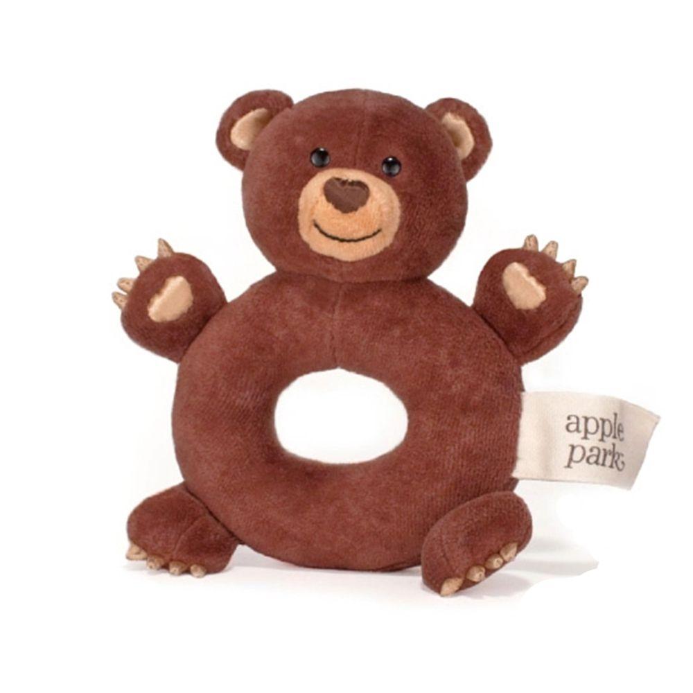 Apple Park - AP 手搖鈴啃咬玩具-小熊