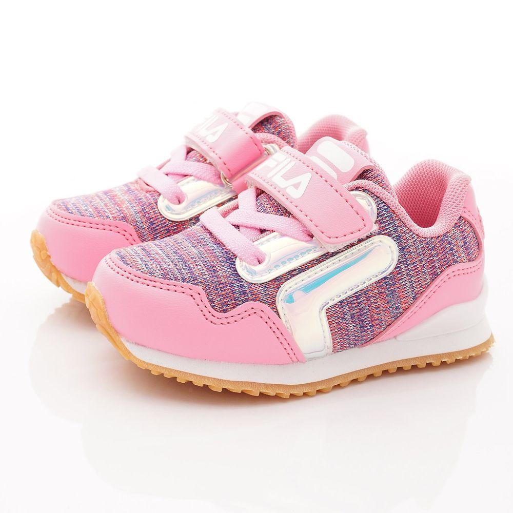FILA - FILA童鞋-針織止滑慢跑鞋款(中大童段)-粉