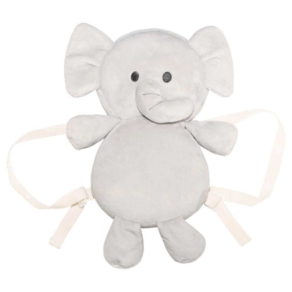 akachan honpo - 嬰兒防護枕背包 大象-灰色