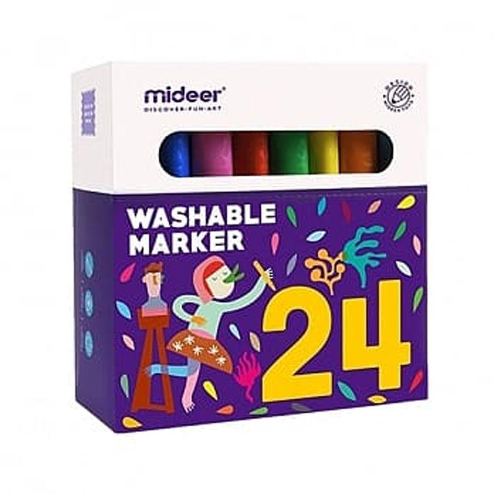 MiDeer - 【新品】可洗彩色筆-24色