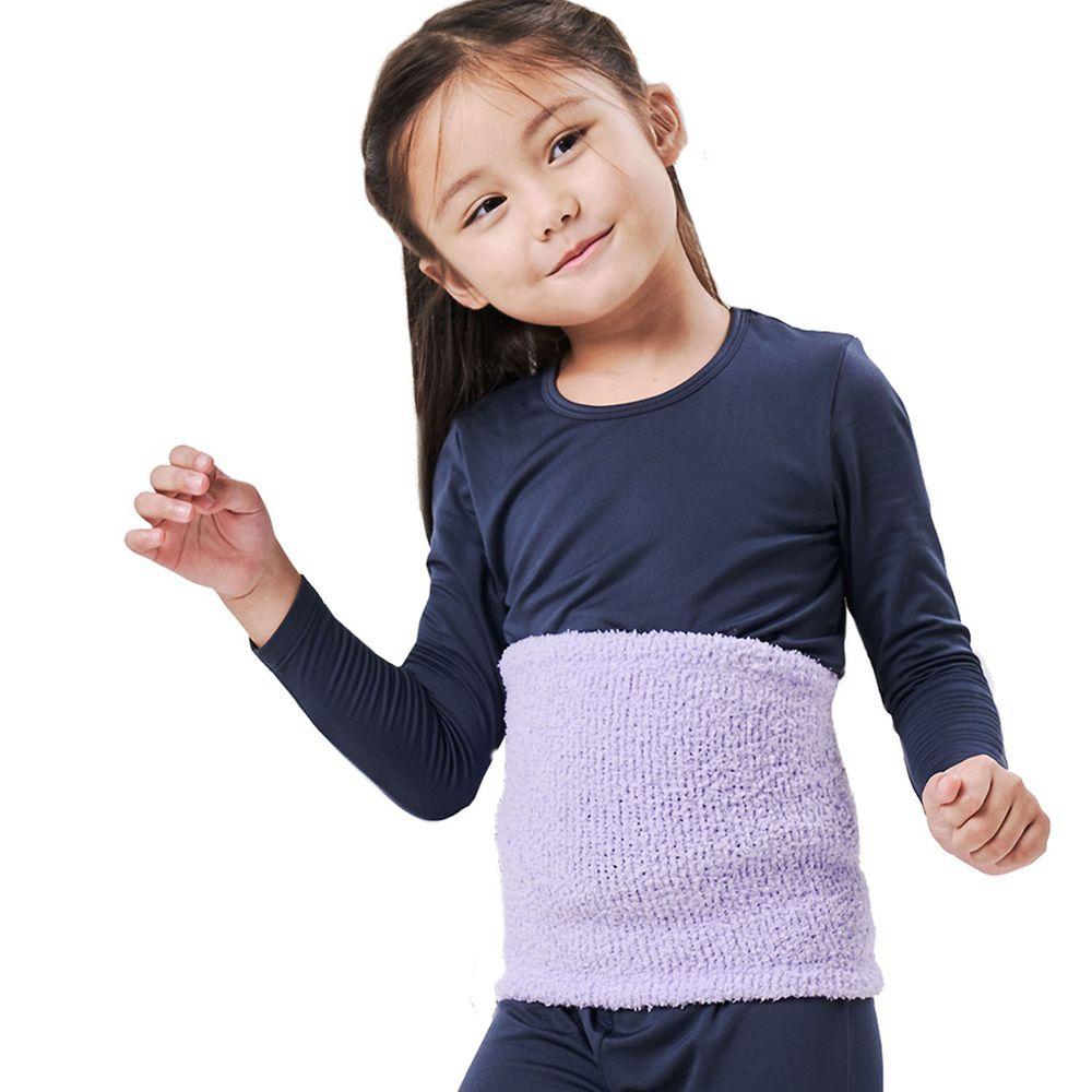 GIAT - 棉花糖超細棉柔萊卡彈力保暖肚圍-薰衣紫 (小段(適腰圍15-29吋))