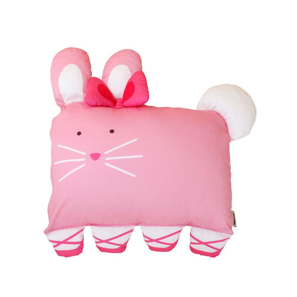 美國 Milo & Gabby - 動物好朋友-可水洗防蹣枕心+枕套組-LOLA芭蕾舞兔兔 (大枕-2歲以上)