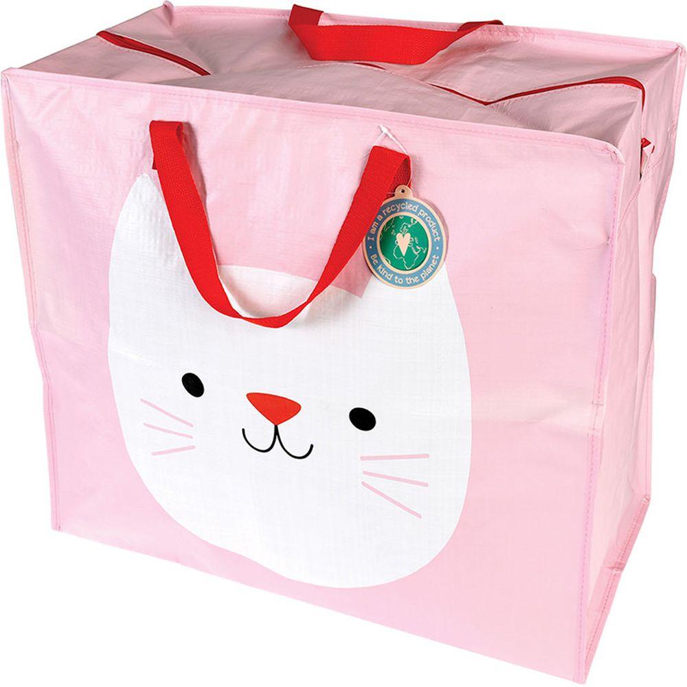英國 Rex London - 衣物/棉被超大多功能防水收納袋/萬用袋-迷人貓咪