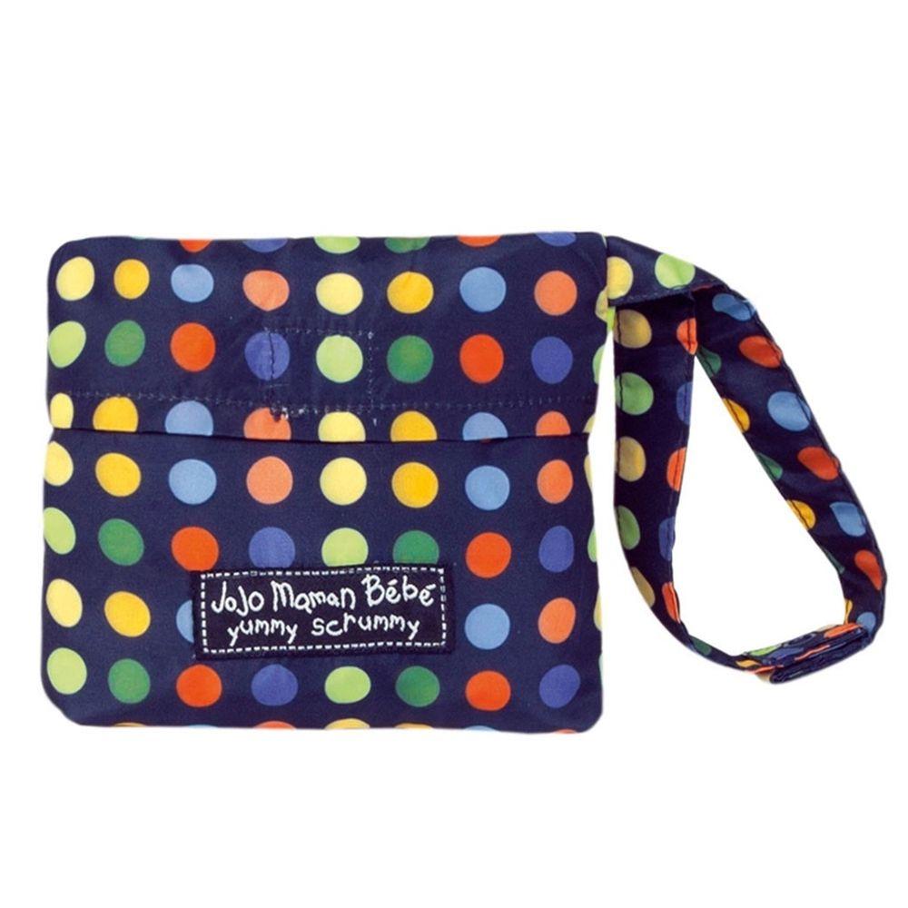 英國 JoJo Maman BeBe - 可攜帶式口袋組寶寶安全餐椅套-繽紛圓點