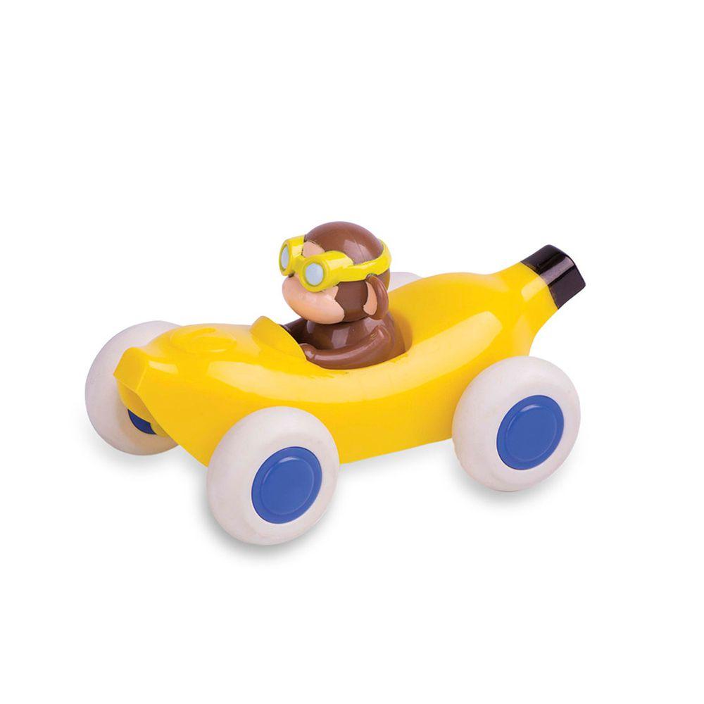 瑞典Viking toys - 動物賽車手-香蕉猴子-14cm