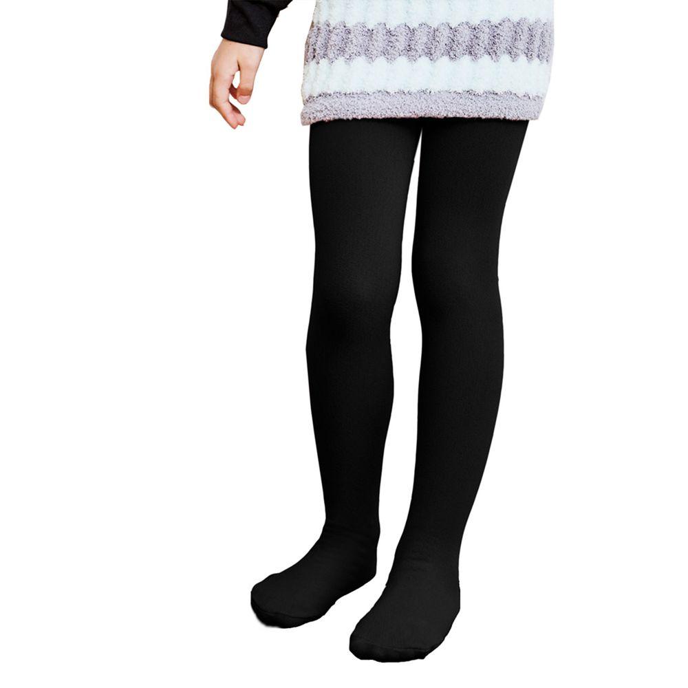 GIAT - 兒童溫暖力厚磅內刷毛褲襪(褲襪款)-黑色餅乾