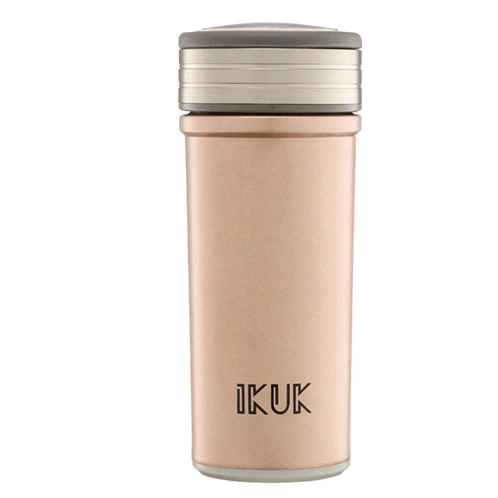 IKUK - 真空雙層好提簡約陶瓷保溫杯-玫瑰金 (360ML)