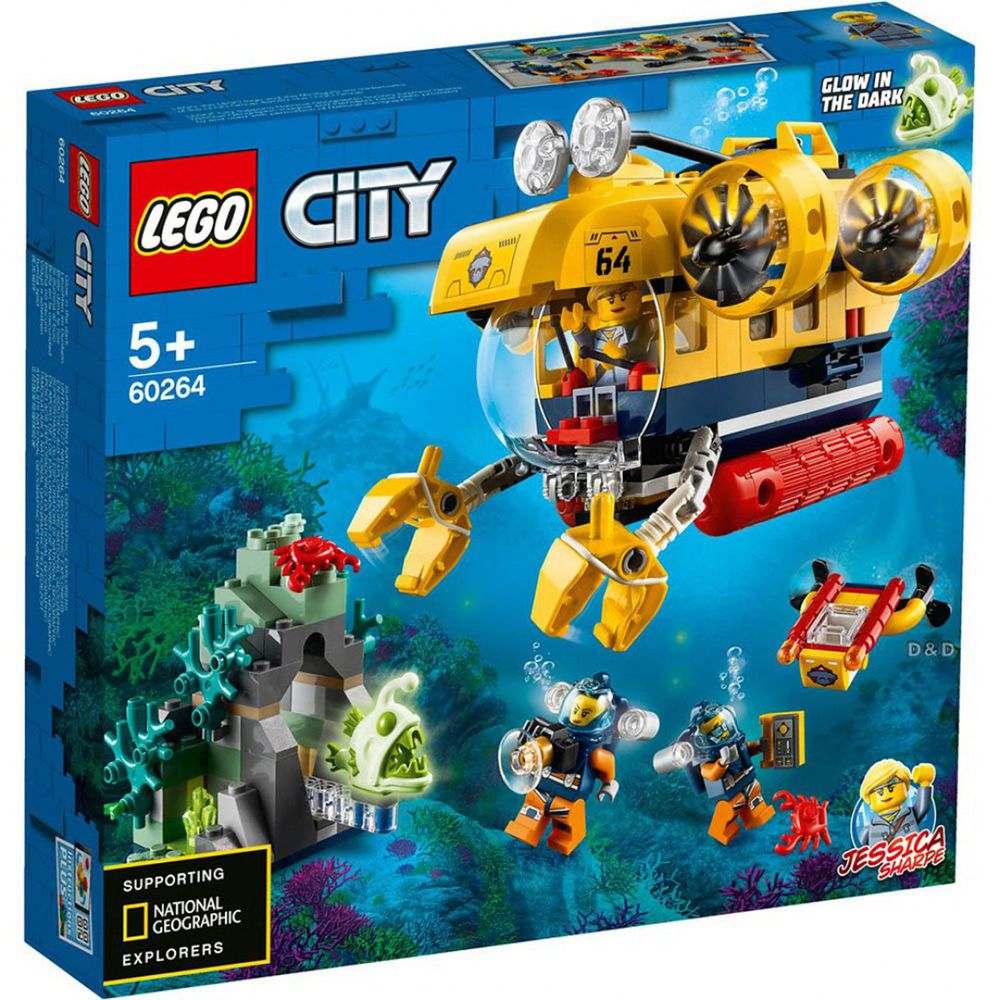 樂高 LEGO - 樂高積木 LEGO《 LT60264 》City 城市系列 - 海洋探索潛水艇-286pcs