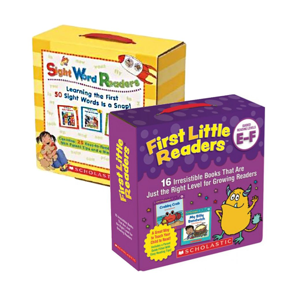 Scholastic - 【超值合購】我的第一套小小閱讀文庫First Little Readers Level E-F+Sight Word Readers Boxed Set+CD-二盒