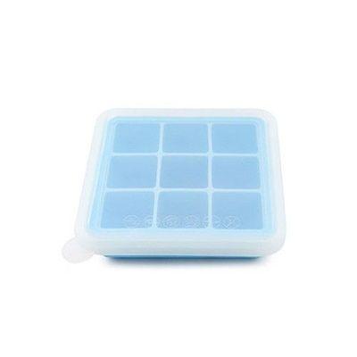 矽膠副食品分裝盒/製冰盒-9 格-藍色-9格x35mL