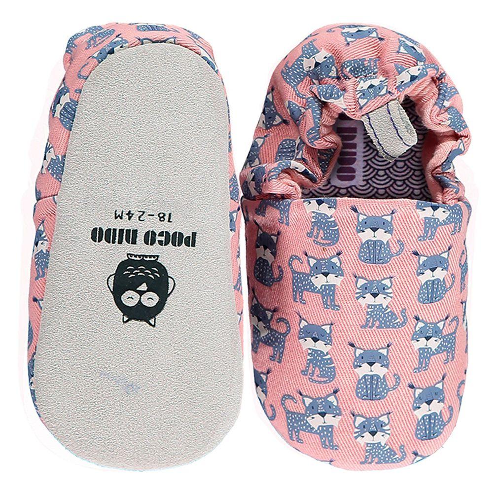 英國 Poconido - 寶寶手工鞋/學步鞋-幸福小山貓-薰衣草粉紫