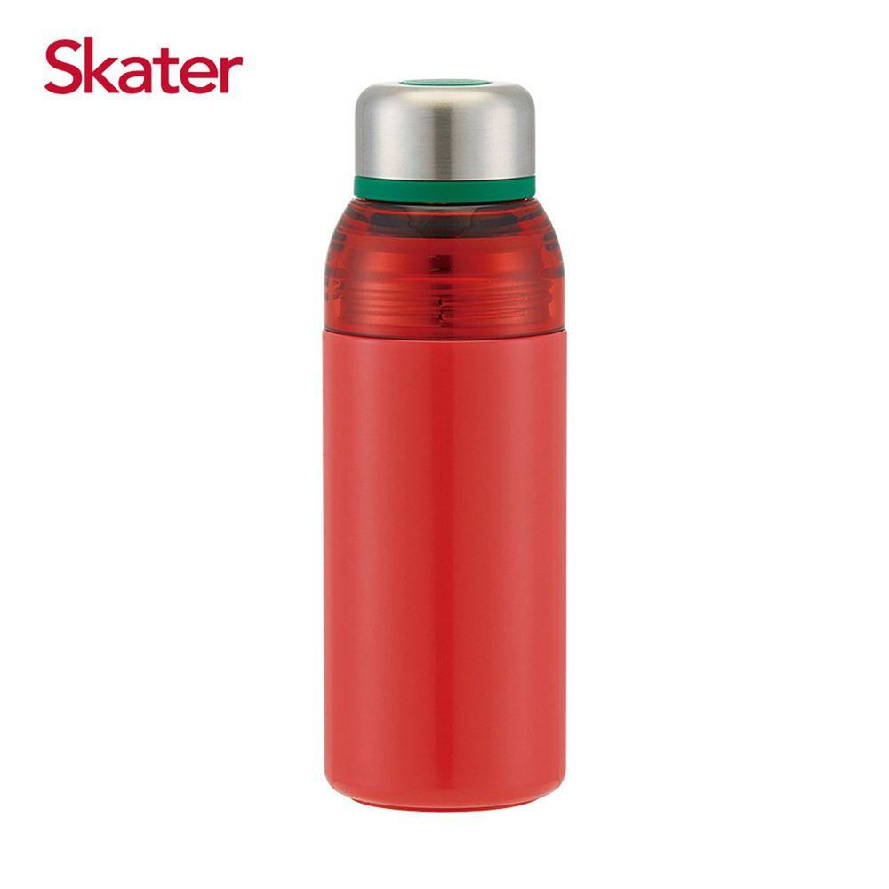 日本 SKATER - 雙開口不鏽鋼真空瓶(400ml)-番茄