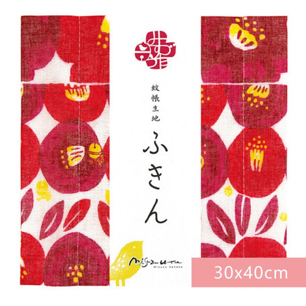 日本代購 - 【和布華】日本製奈良五重紗 方巾-郵便局之椿 (30x40cm)
