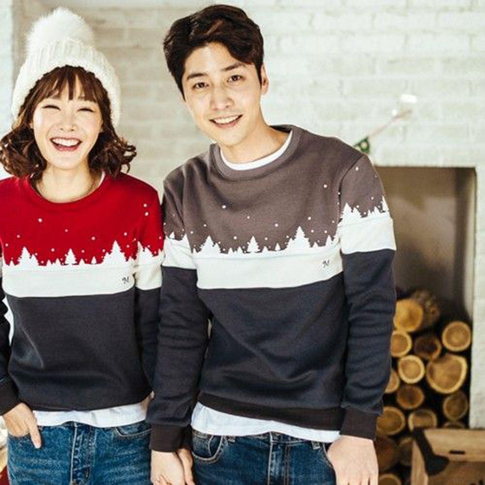 韓國 Monfimafi - 起絨溫馨聖誕親子裝-爸比-灰