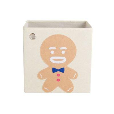 玩具收納箱-夢幻童話薑餅人 (33x33x33cm)
