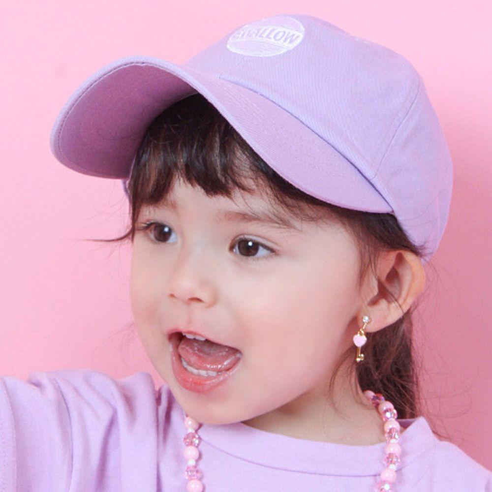 韓國 Babyblee - 字母徽章純色棒球帽-淺紫 (頭圍:51-55cm)