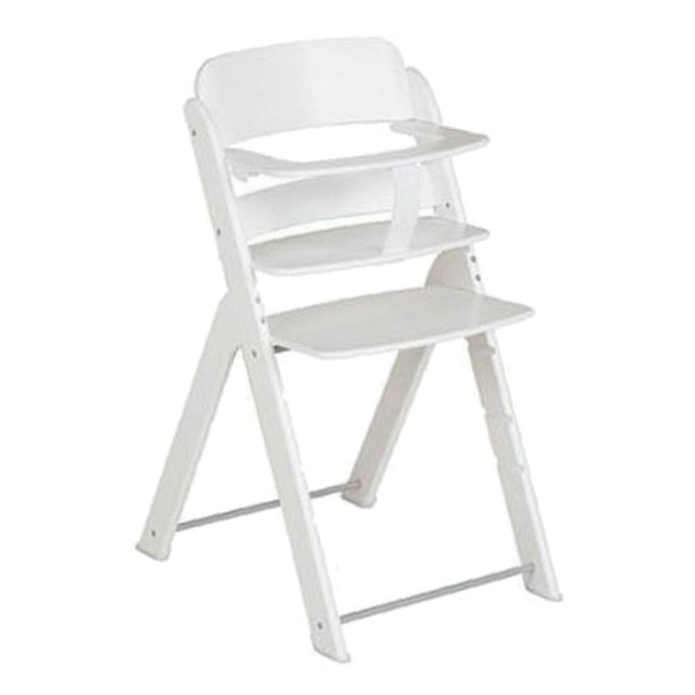 義大利 Pali - 艾莉堤卡木頭成長餐椅-白色-單椅(含安全帶)