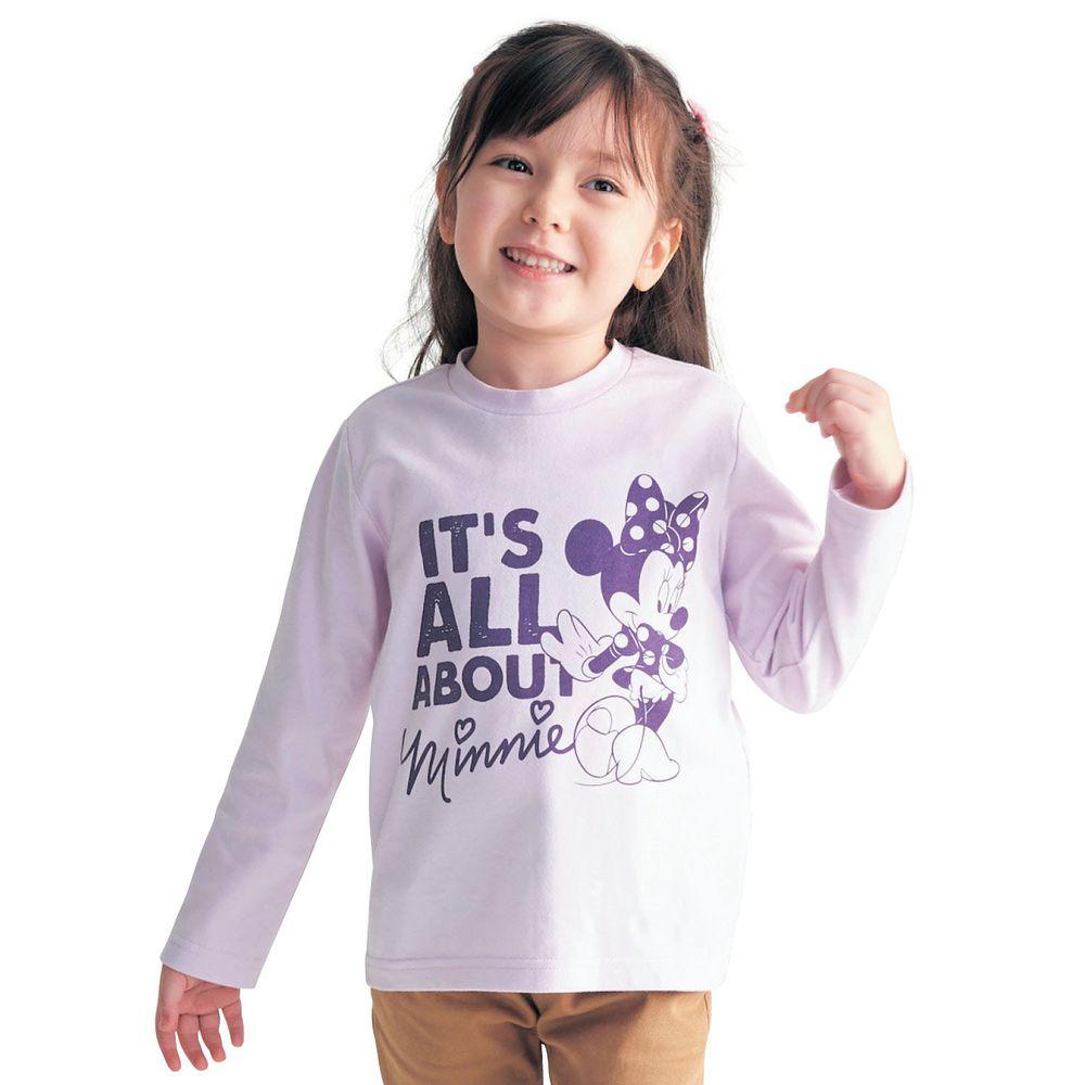 日本千趣會 - 迪士尼天竺棉長T-米妮-紫