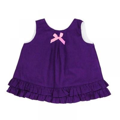 無袖搖擺露背上衣-紫色