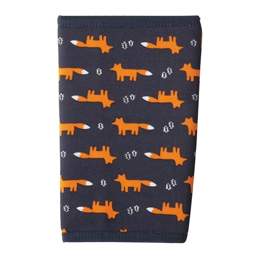 日本丸和 - 雙層機能裏起毛保暖襪套-狐狸-灰 (13x20cm)