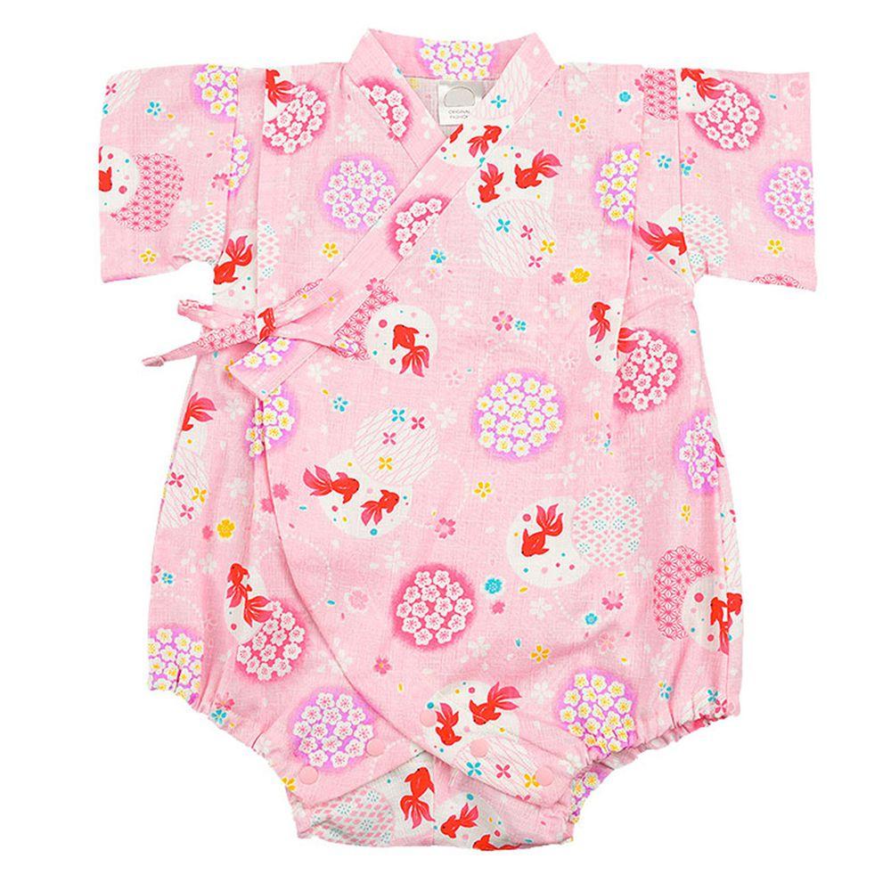 akachan honpo - 甚平包屁衣-金魚-粉紅色
