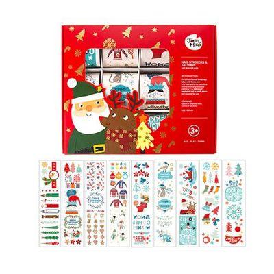 兒童紋身&指甲貼紙-聖誕款