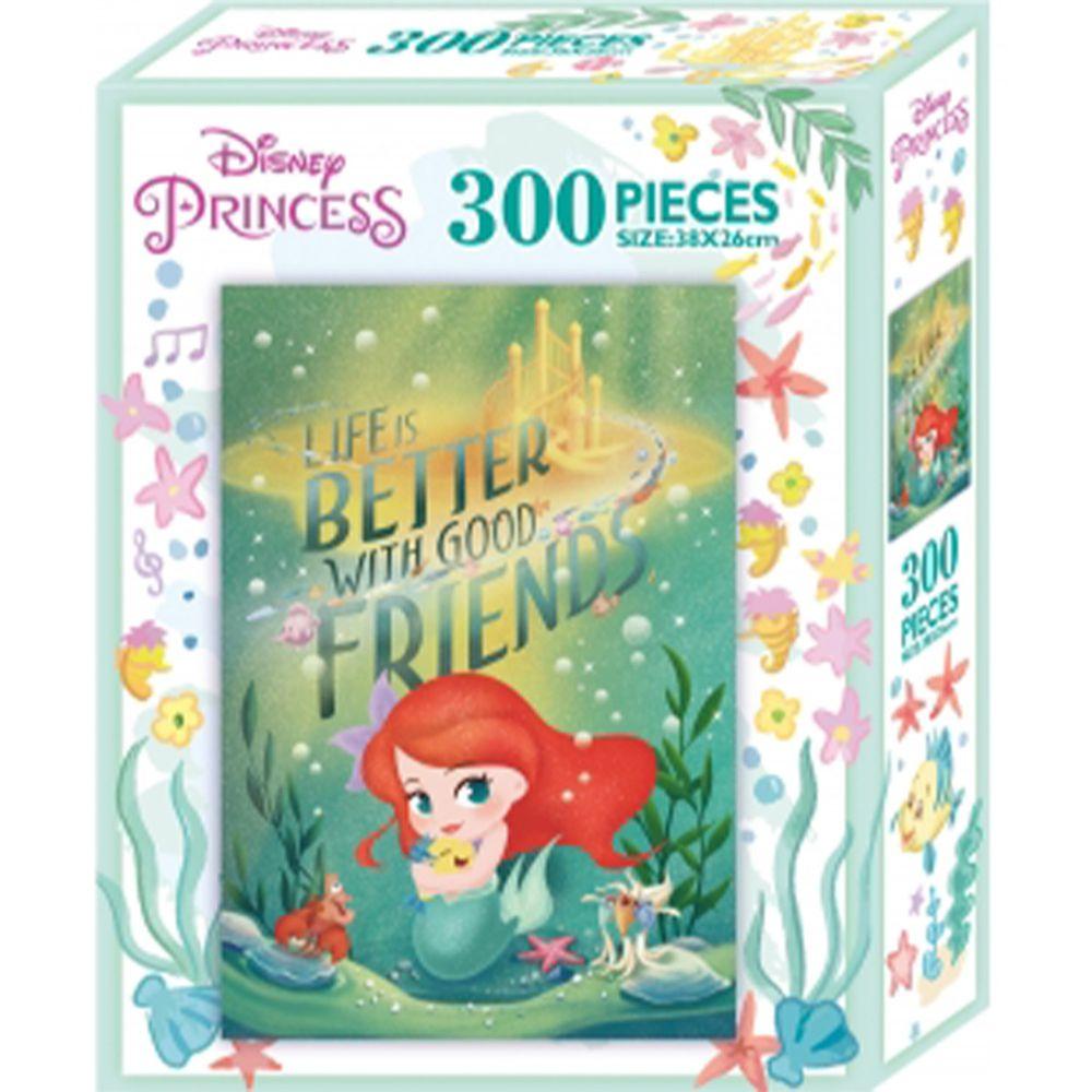 迪士尼公主300片盒裝拼圖─-小美人魚(L)