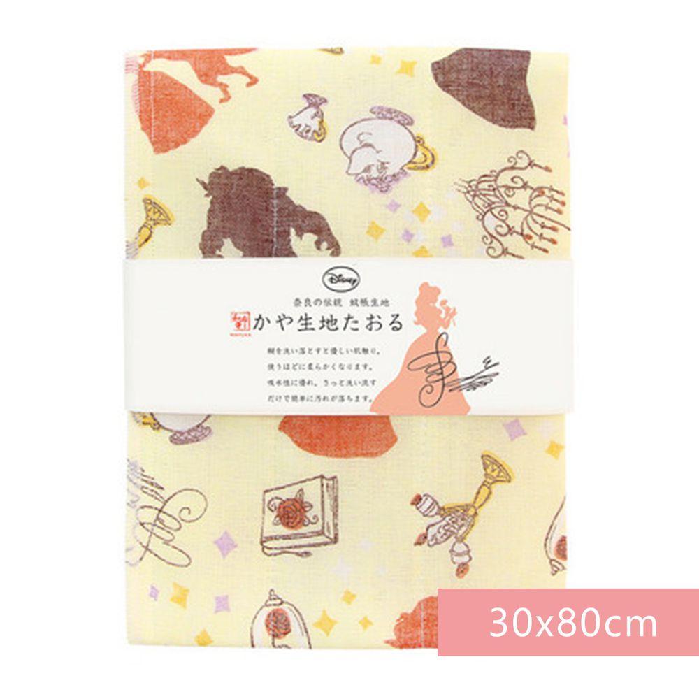 日本代購 - 【和布華】日本製奈良五重紗 長毛巾-美女與野獸 (30x80cm)